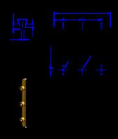 75T10 Messing Nockenverbinder / Einlegeschiene / Ersatzzahn