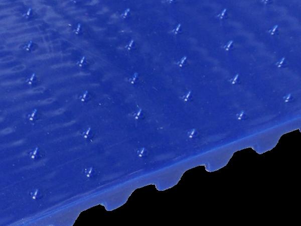 Zahnriemen T10 kleine Spikes mit Versatz 17 x 10 mm FDA blau