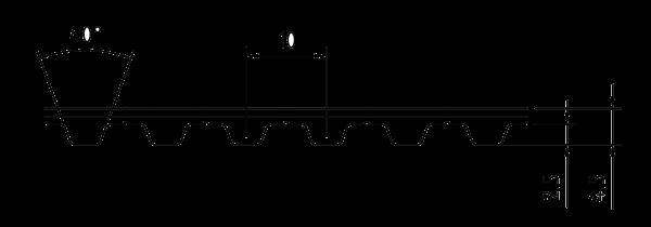 PU Zahnriemen 12T10-650 endlos Stahlzugträger