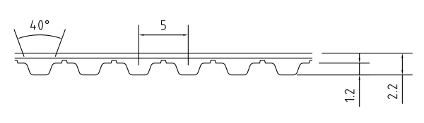 PU Zahnriemen 25T5-850 endlos Stahlzugtraeger