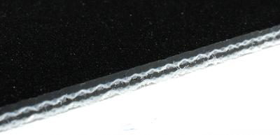 MIGCP25-34/0DA PVC Transportband schwarz zweilagig