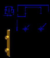 50T10 Messing Nockenverbinder / Einlegeschiene / Ersatzzahn