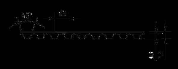 PU Zahnriemen 20T2,5-182,5 endlos Stahlzugtraeger