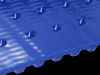 Zahnriemen T10 große Spikes mit Versatz 15 x 15 mm FDA blau