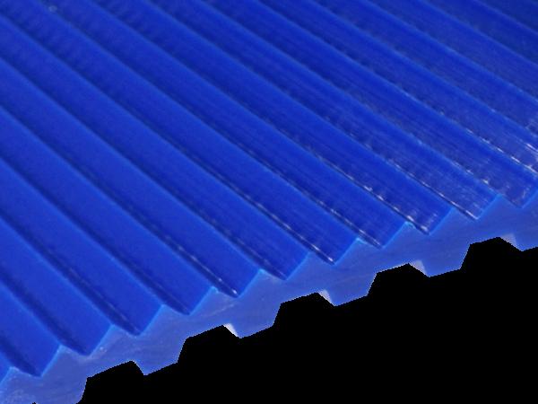Zahnriemen T 10 Triangel 5 mm FDA für Lebensmittel blau