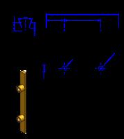 L200 Messing Nockenverbinder / Einlegeschiene / Ersatzzahn