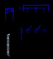75AT10 Edelstahl Nockenverbinder / Einlegeschiene / Ersatzzahn